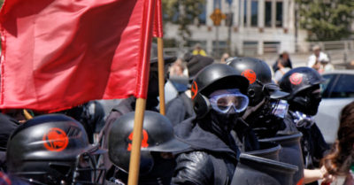 Antifa marches on Biden's Inauguration Day: 'We don't want Biden—we want revenge' as they destroyed property