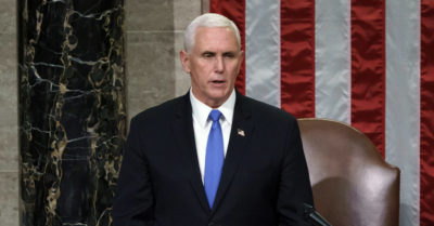 Pence ignored the objections of the legislators and announced Biden as president