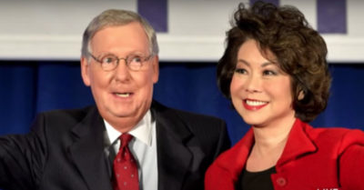 Justice Department declined to investigate Mitch McConnell's wife Elaine Chao for alleged abuse of power