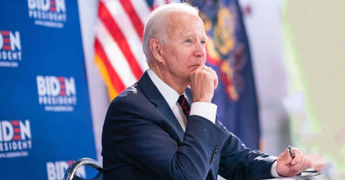 Joe Biden thinking