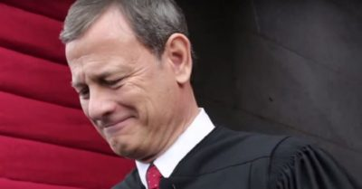 Chief Justice John Roberts voted against the the withdrawal of California's at-home worship restrictions