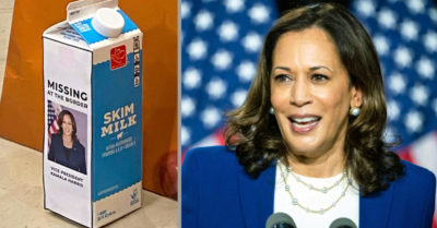 House Republicans put VP Harris's photo on milk carton ad entitled 'missing at border'