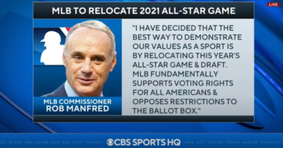 'Serious mistake' by pulling All-Star Game out of Georgia-former MLB Commissioner slams Rob Manfred