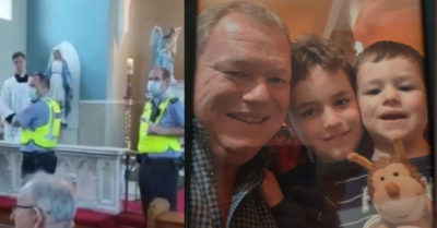 Ireland: He filmed police closing churches, then had his home raided and his children taken away
