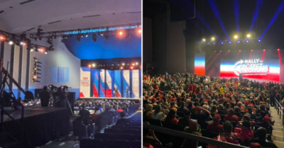 Photos: Trump crowd overwhelms Biden crowd 6 months after he leaves White House
