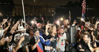 Large protest outside White House wants President Biden to get tough on communist Cuba