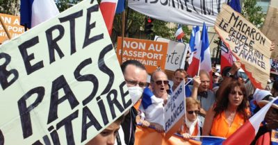 France: Protesters flood the streets, reject health passport, call for Macron's renunciation