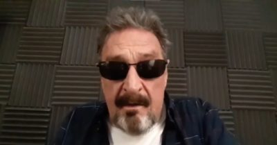 Did McAfee have Deep State files in the collapsed building in Miami?