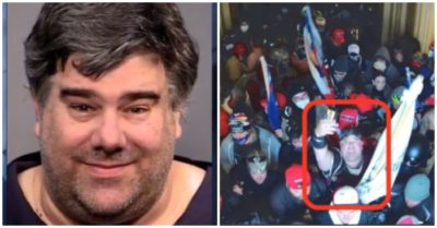A rioter dressed as a gladiator was arrested after videoing the Capitol riots for his mother