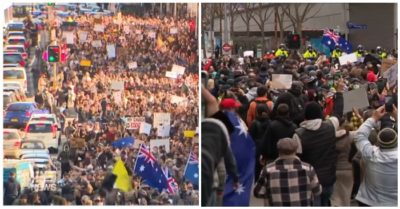 Thousands of protesters march against rolling lockdown in Australia