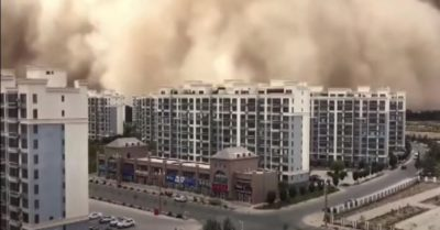 Ancient city in China hit by massive sandstorm