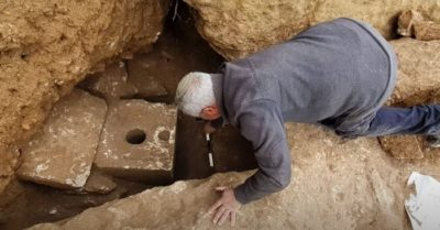 Archaeologists uncover stone toilet that only the wealthiest could have