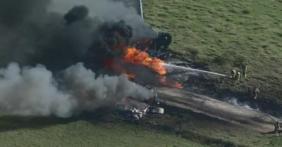 Texas plane crash and fire: 21 passengers and crew miraculously survive